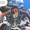 Shiva ressemble à un esprit hindou avec ses 4 bras (dont 1 coupé par Masiko)