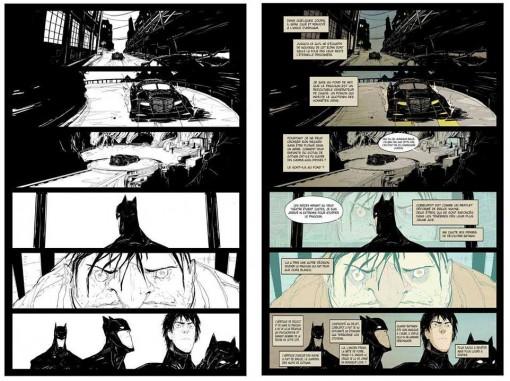 Batman jeu de masques - étapes planche