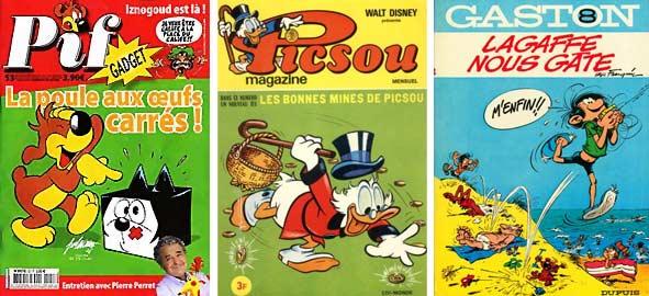 Pif, Piscsou, Gaston Lagaffe