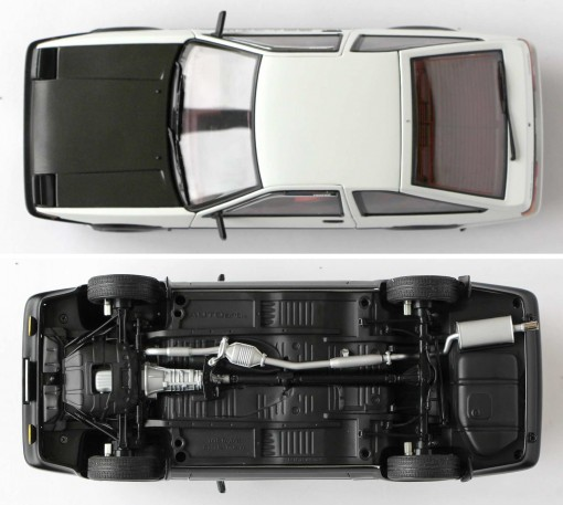 Toyota AE 86 - AUTOart - Initial D - dessus dessous