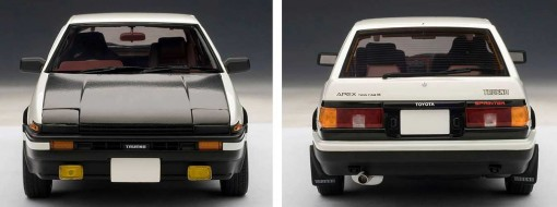 Toyota AE 86 - AUTOart - Initial D - face et dos