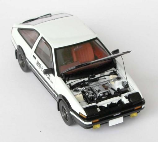 Toyota AE 86 - AUTOart - Initial D moteur