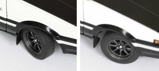 la direction est fonctionnelle - Toyota AE 86 - Initial D - Autoart