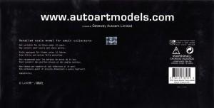 packaging dessous de la Toyota AE 86 - AUTOart - Initial D