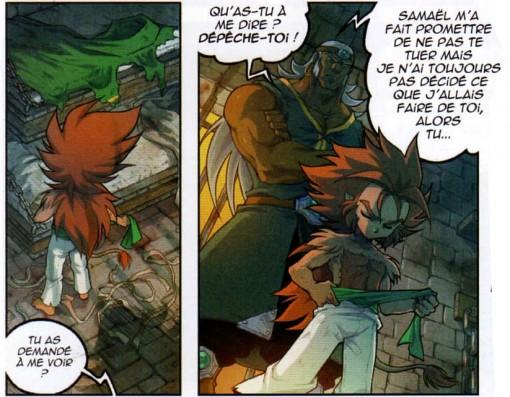 La couverture de Samaël sert de ceinture à Gryf