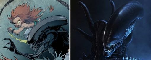 Gryf contre Alien