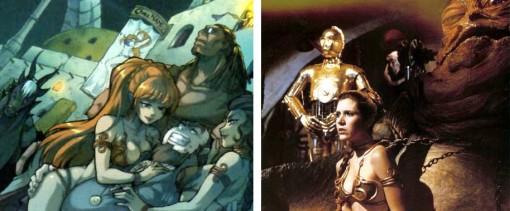 Leia prisonnière de Jabba