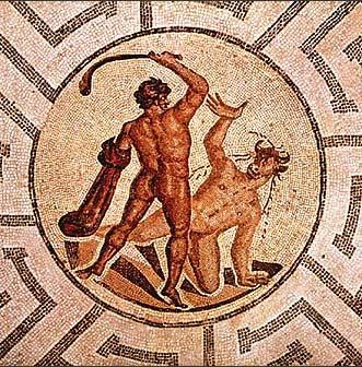 Minotaure et Thésée