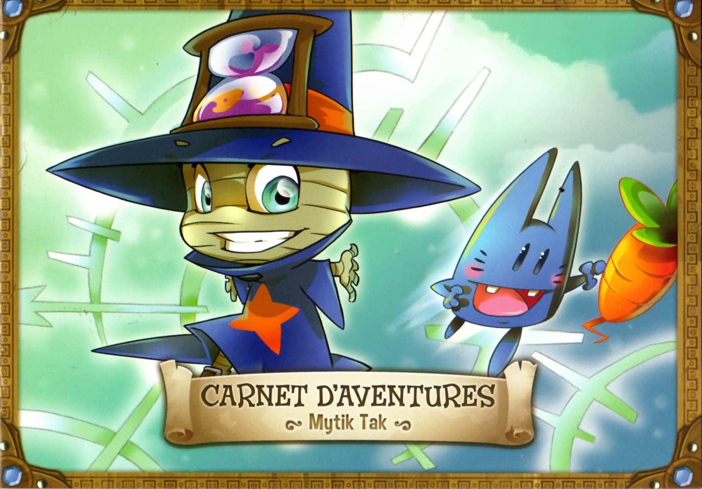 Page 1 du Carnet d'aventures de Mytik Tak