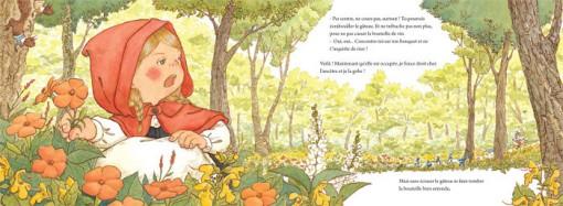 Page 12 du livre jeunesse de qui a peur le grand méchant Loup ?, édité par nobi nobi !