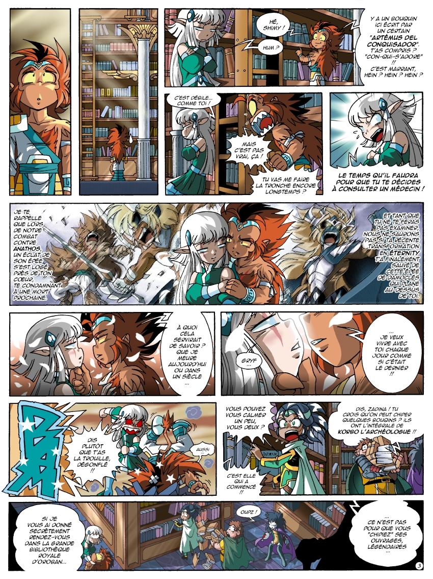 Page 3 du tome 17 des Légendaires