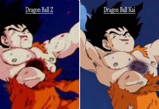 Compraison Dragon Ball Z et Kai