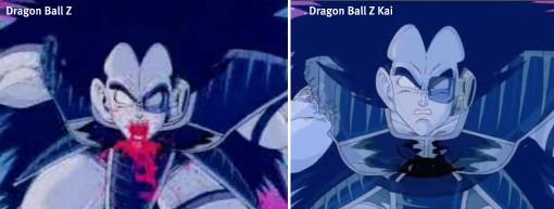 Comparaison Dragon Ball Z et Kai (Raditz)