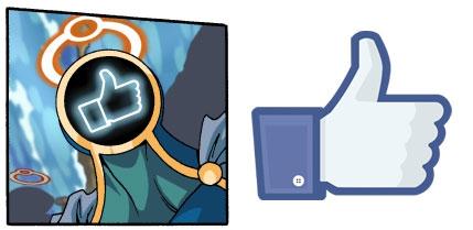 """L'icône de pouce levé est un """"like"""" facebook"""