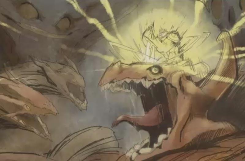 Le dieu iop terrasse des dragons