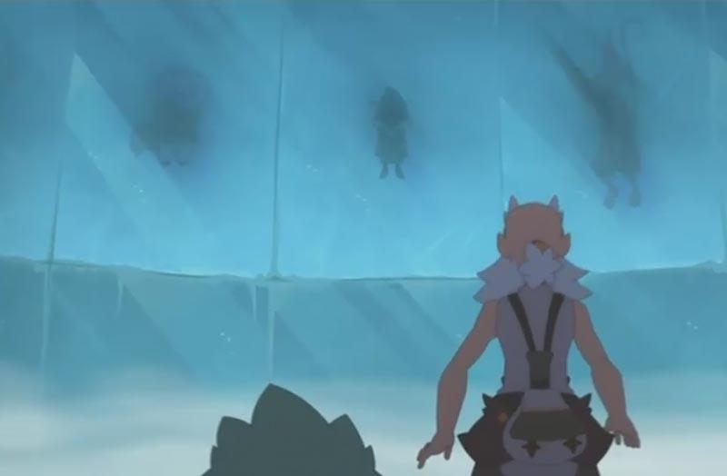 Joris est enfermé dans un bloc de glace