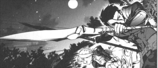 Saber et Lancer s'allient pour combattre Caster qui a de l'énergie infinie à cause de son livre magique