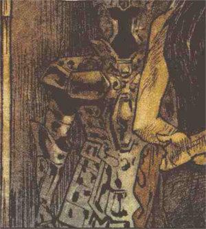 Armure du chevalier d'or des gémeaux dans Freaks' Squeele - Funérailles Tome 2