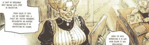 Explication des amures dans Freaks' Squeele Tome 2 - Funérailles avec la professeur de Scipio