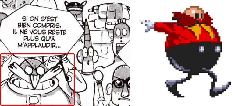 Docteur Robotnik tiré du jeu vidéo Sonic de Sega