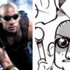 Vin Diesel avec les lunettes du film Les Chroniques de Riddick