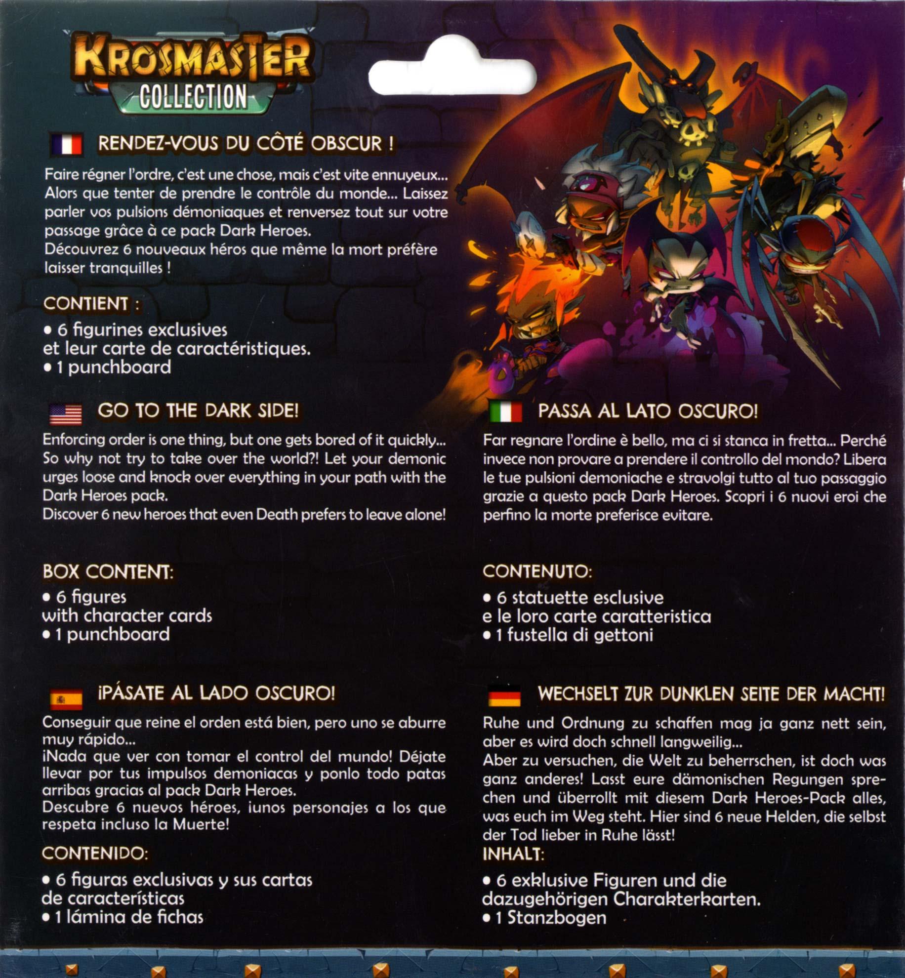 Dark Heroes Krosmaster packaging dos