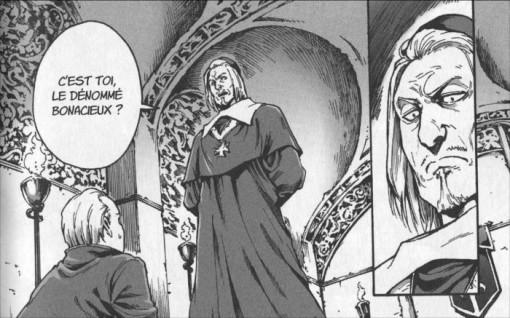 Le cardinal de Richelieu menace un homme pour espionner la reine