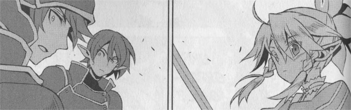 Leafa se prépare à combattre mais Kiroto arrive pour battre ses adversaires