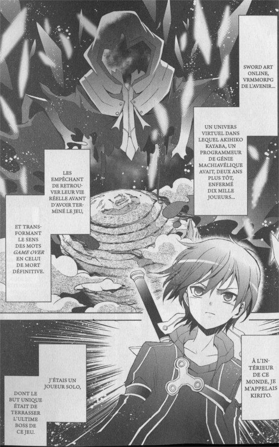 Page 1 du tome 1 de Sword Art Online - Fairy Dance