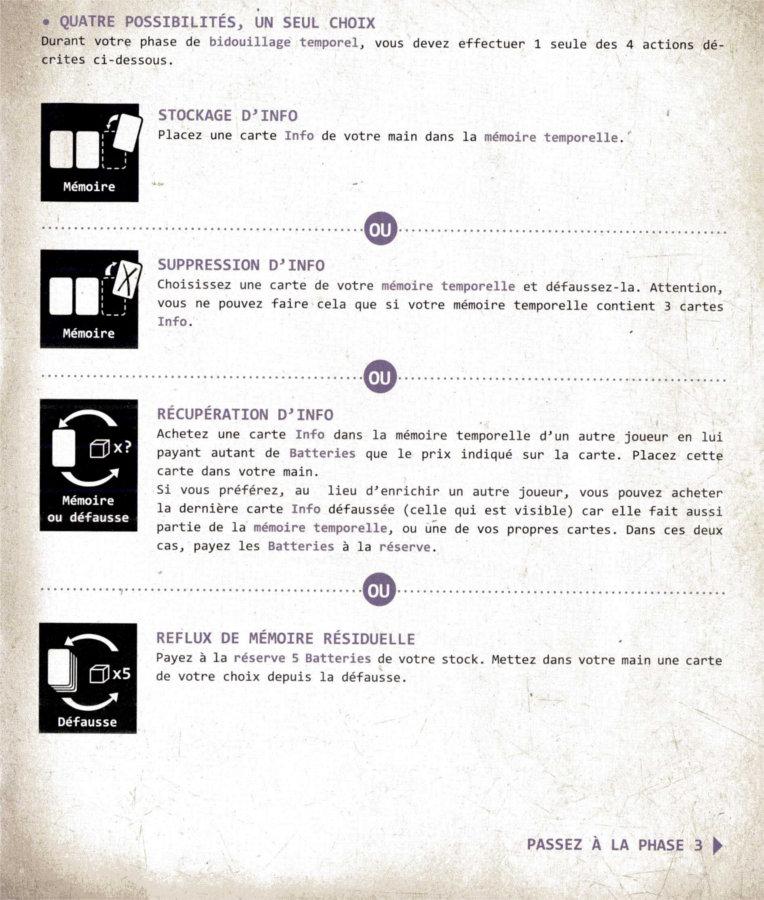Page 6 du livret de règle du jeu de société le visiteur du futur - la relève
