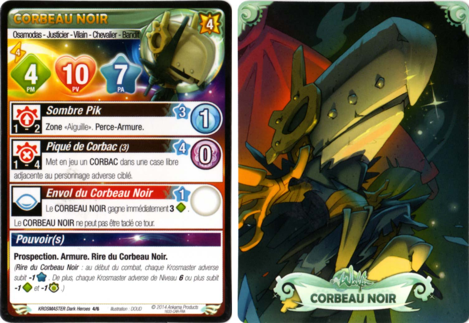 Corbeau noir carte krosmaster