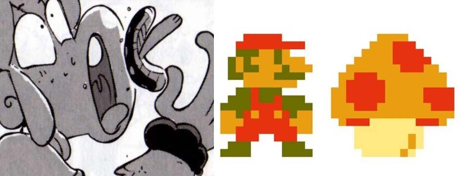 Arty mange un champignon magique comme Mario