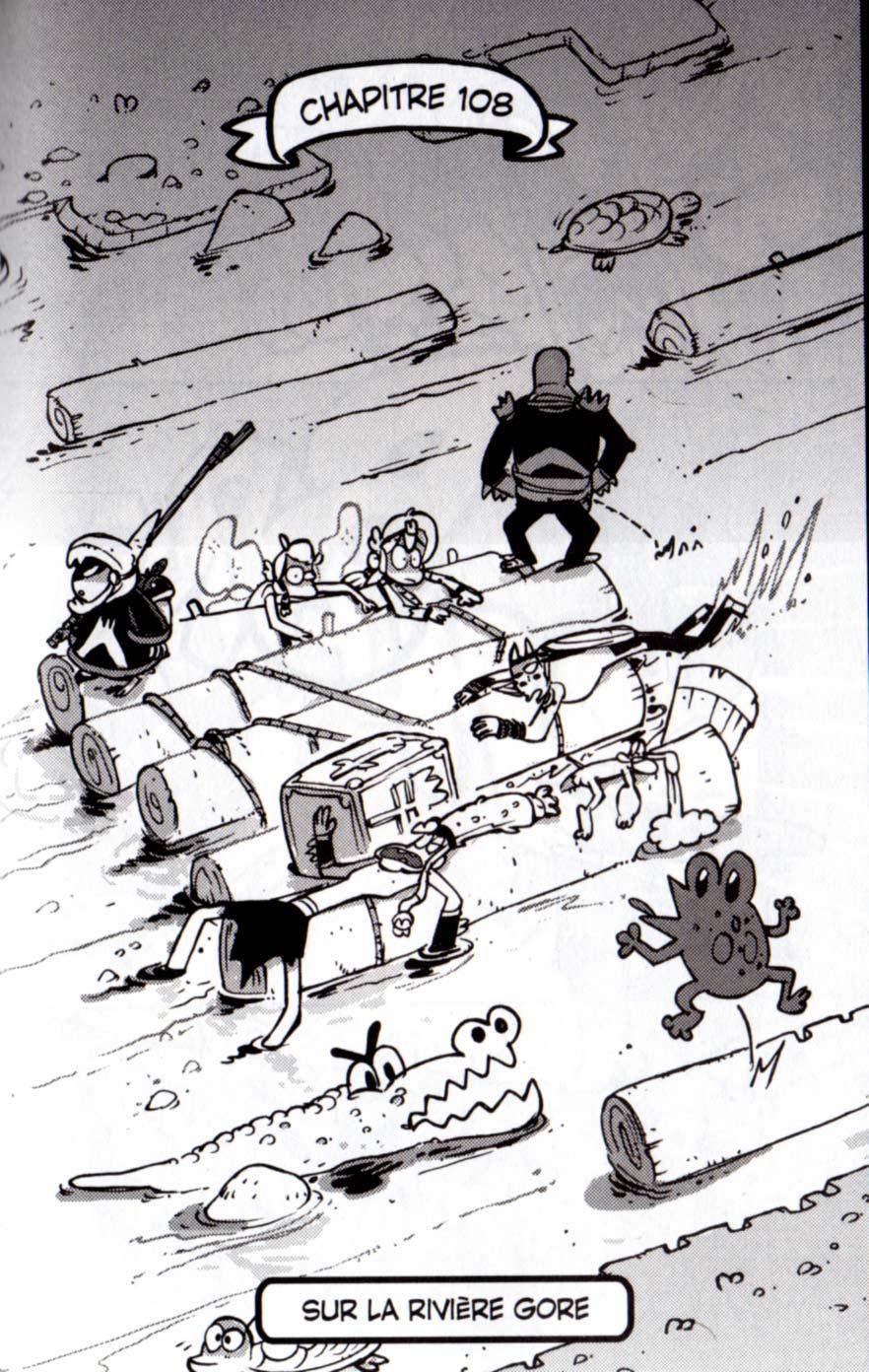 Dofus manga tome 22 page 7 - allusion à Frogger