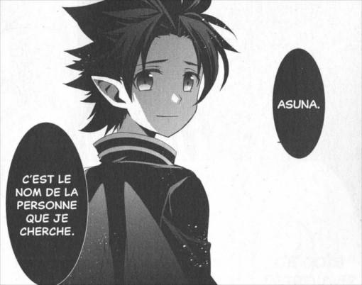 Kirito annonce à Leafa qu'il recherche Asuna ce qui lui fait comprendre que Kirito est son cousin