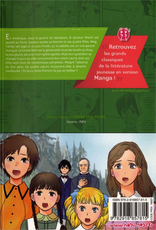 Quatrième de couverture du manga les 4 filles du docteur March (nobi nobi!)