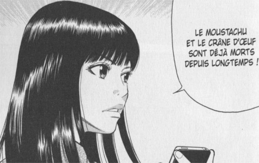 Rin montre à un yakuya qu'elle a de vrais pouvoirs en indiquant ceux qui sont morts dans une liste qu'il lui a donnée