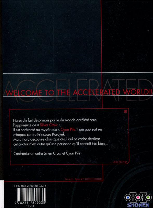 Dos du tome 2 du manga Accel World