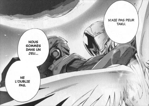 Taku et Hiroyuki se réconcilient après la victoire d'Hiroyuki et l'apparition de son pouvoir de voler