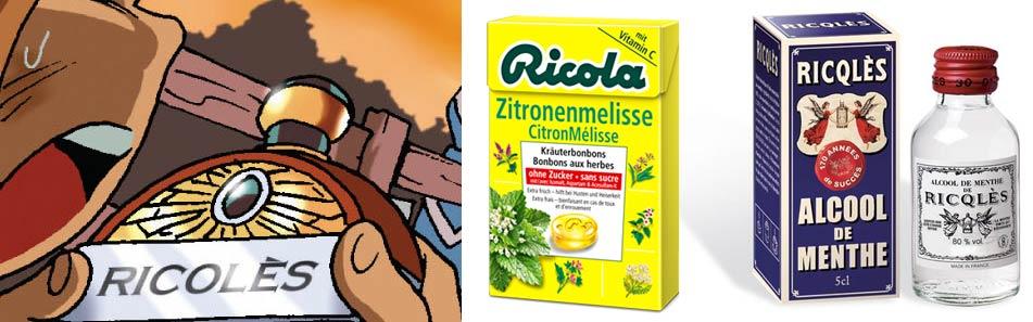 Ricolès - Ricola et Ricqlès