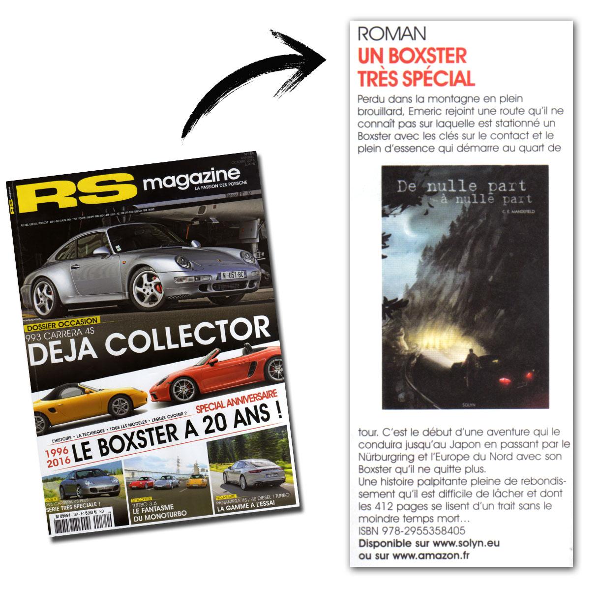 RS Magazine Octobre 2016 Chronique livre De nulle part à nulle part
