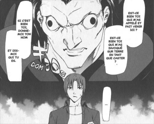 Première rencontre entre Caster et Ryunosuke, son maître