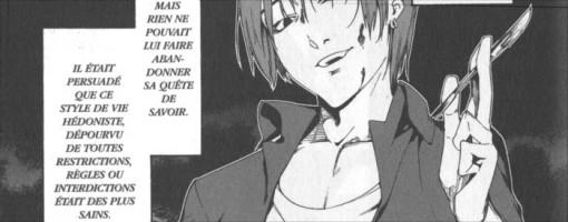 Ryûnosuke sur le point de tuer une de ses victimes