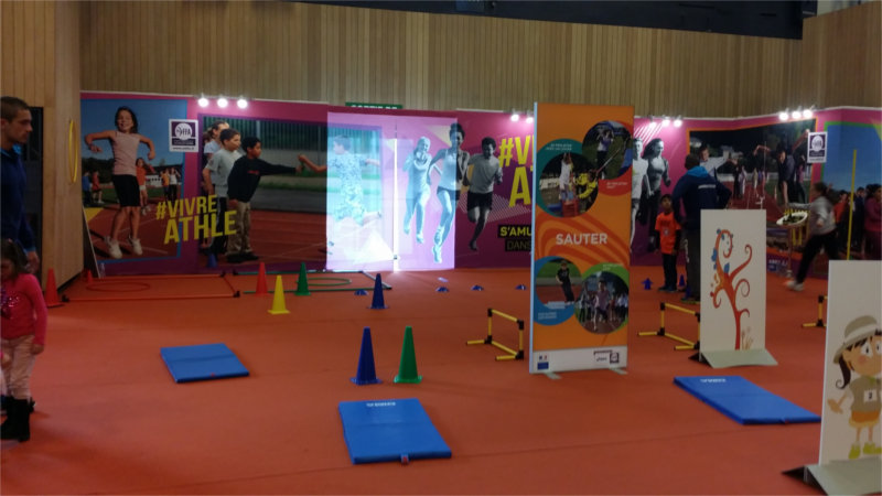 Initiation à l'athlétisme par la fédération (Kid Expo 2015)