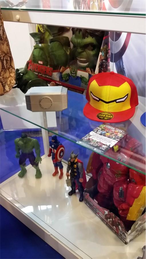 Produits dérivés Avenger sur le salon Kid Expo 2015
