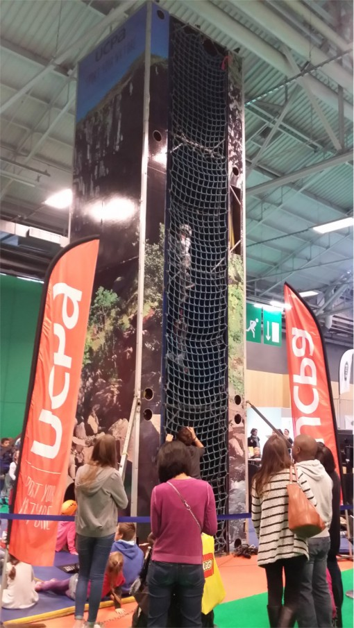 Escalade sur le salon Kid Expo 2015
