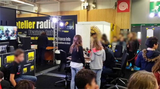 Initiation à la radio par France Info sur le salon Kid Expo 2015