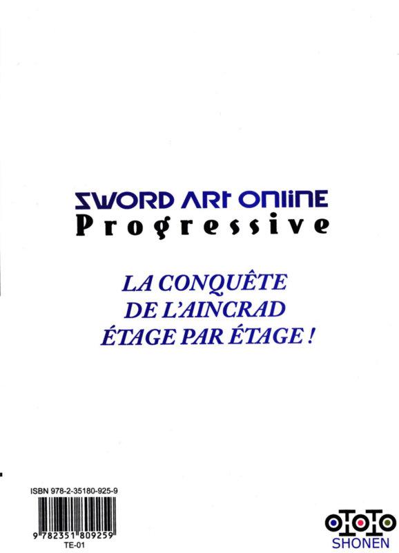 Dos du manga Sword Art Online - Progressive - Volume 2