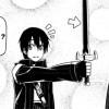 Kirito et son arme après le combat contre le field boss du niveau 2
