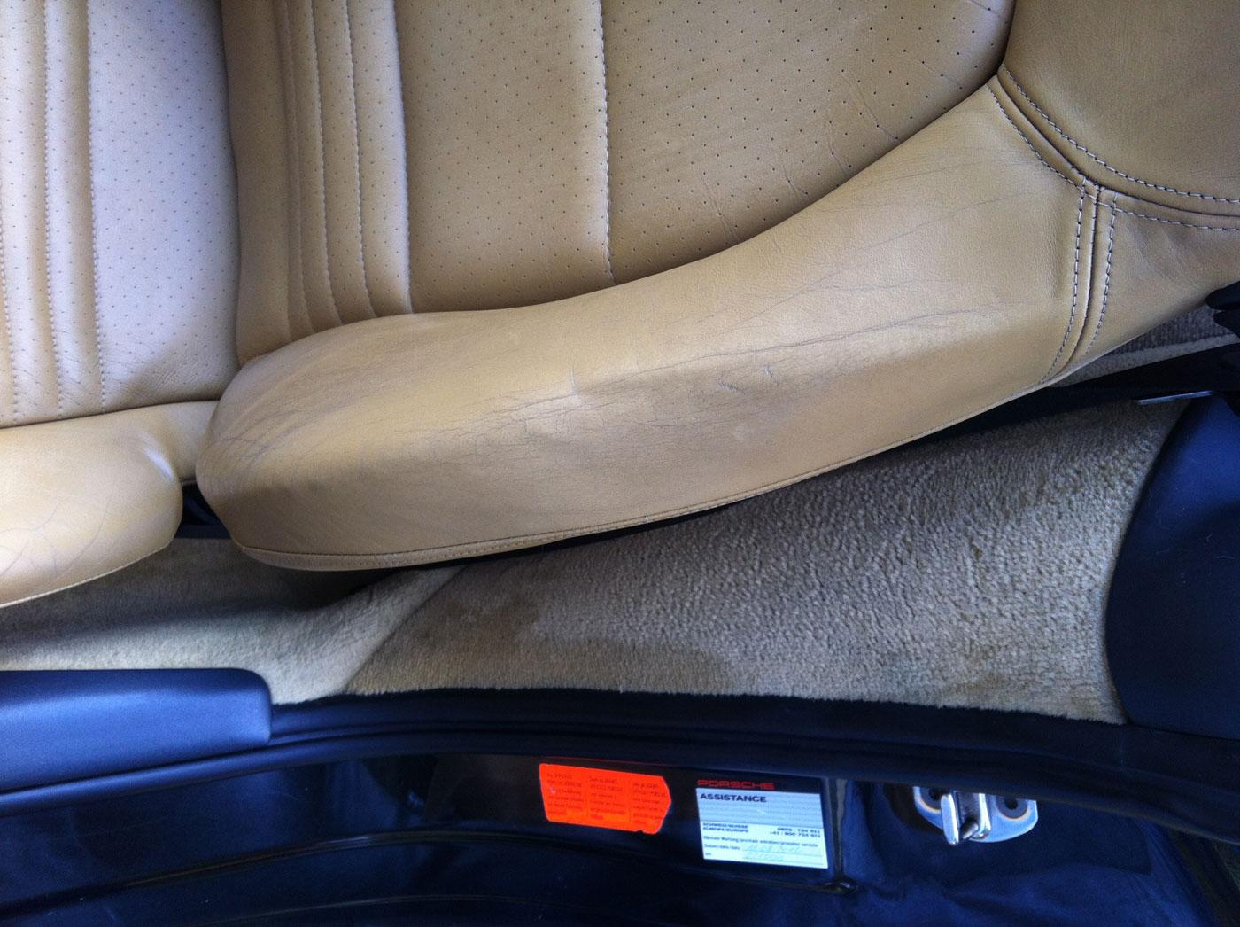 Boxster 986 de 2,5L de 1997 noir cuir abimé