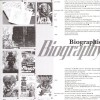 Page biographie de l'auteur Kentaro Miura dans l'artbook Berserk Illustration file